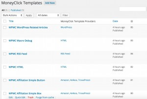 Template List View